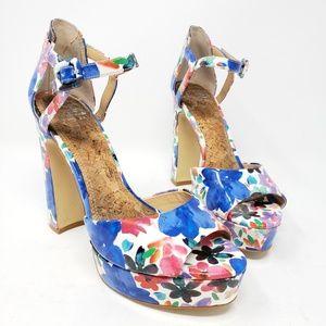 Gianni Bini floral platform heels size 7.5